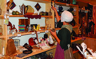 For her internship this summer, senior Rebecca Schratz dressed in period clothing from the 1700's.