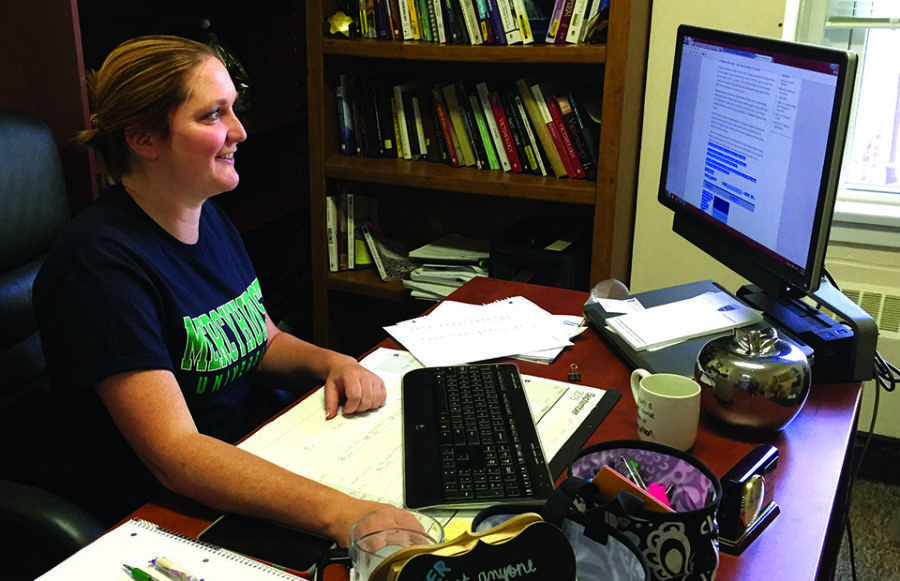 EmmaLeigh Kirchner has so far been delighted with the student body and the rest of the Mercyhurst community.