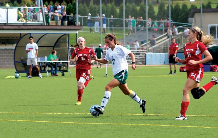 Senior forward leading women's soccer