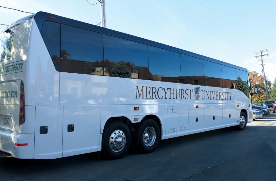The new university buses, intended primarily for athletic teams, contain Wi-Fi, television screens and bathrooms.
