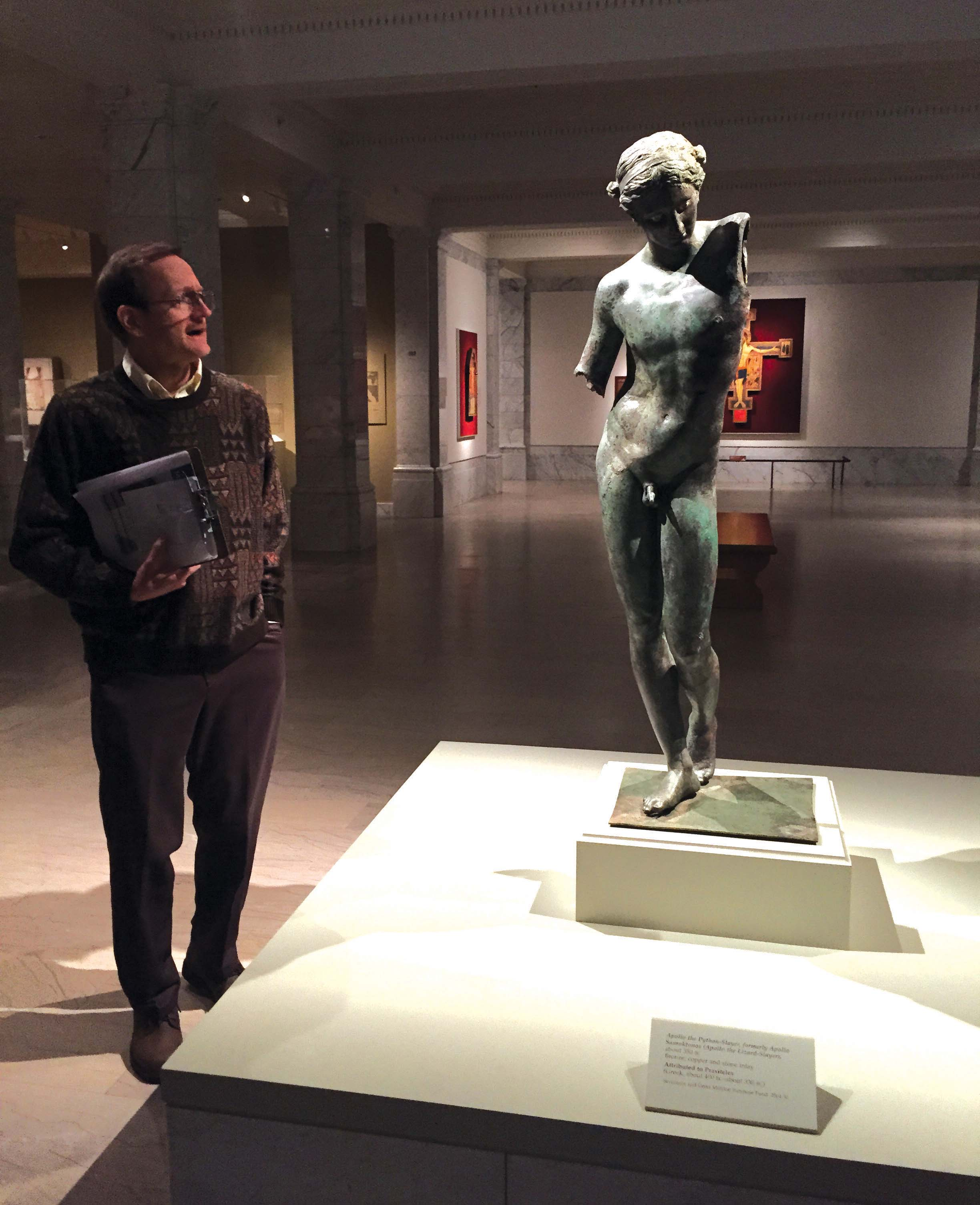 "The ""Cleveland Apollo"" was one of the many artifact seen by students at the Cleveland Museum of Art."