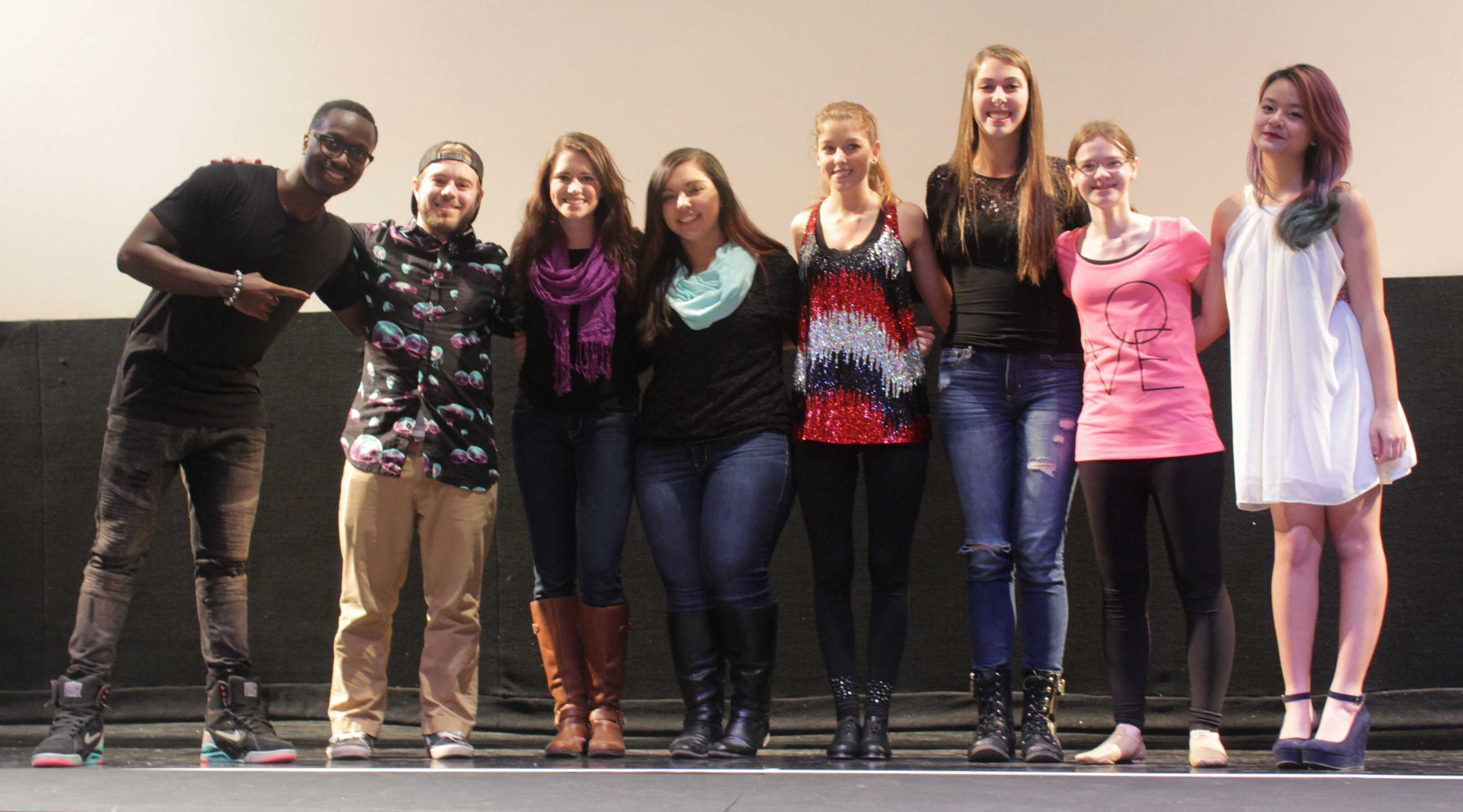 The students that participated in the 'Hurst's Got Talent event pictured with Kenneth Paryo.