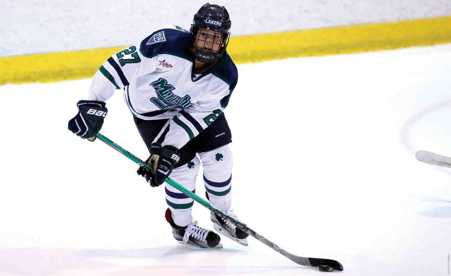Sophomore forward Brooke Hartwick (above) recorded a goal in each of the Lakers' games this weekend against RIT.