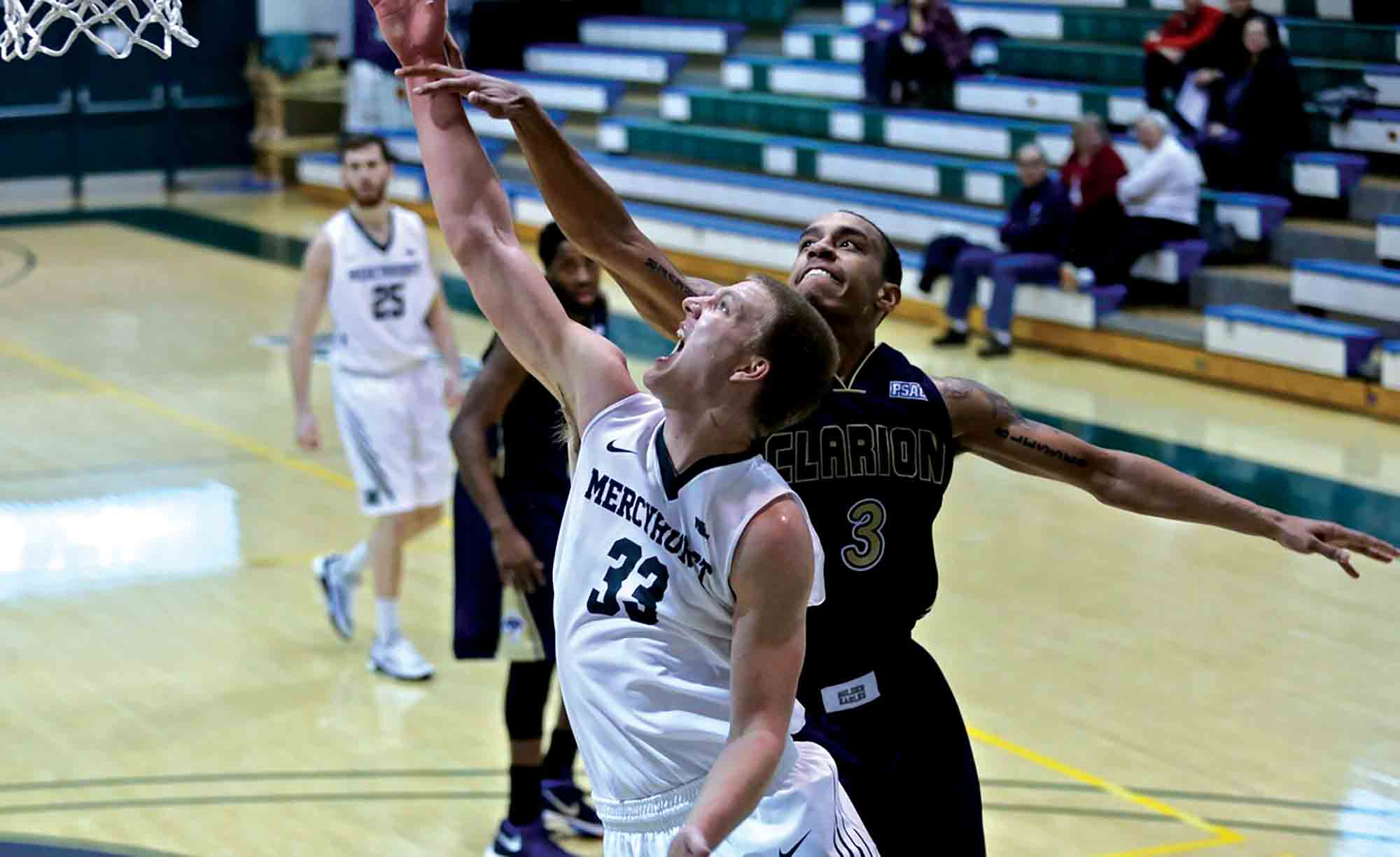 During the Mercyhurst's game against Clarion on Saturday, Feb. 6, senior forward Andy Hoying scored 12 points. The men are 15-7 overall and 12-6 in the conference.