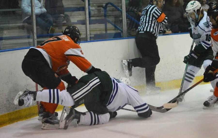 It was a battle on the ice as both teams were playing to host the quarterfinals game. RIT played a rough game, but Mercyhurst was victorious with a 3-2 win. On Friday, March 11-13, Mercyhurst and RIT will meet again for another intense match-up.
