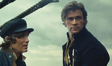 Chris Hemsworth, right, as the lead role Owen Chase.