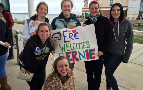 Students 'feel the Bern' at political candidate's rally
