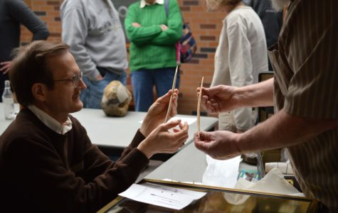 Assistant Professor of Geology and Director of Paleontology, Scott McKenzie, volunteered his time at 'Dig into Erie's Past.'