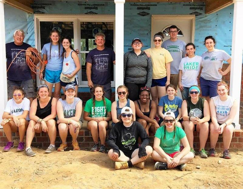 These are the students that went on Monroe, N.C. Habitat trip.