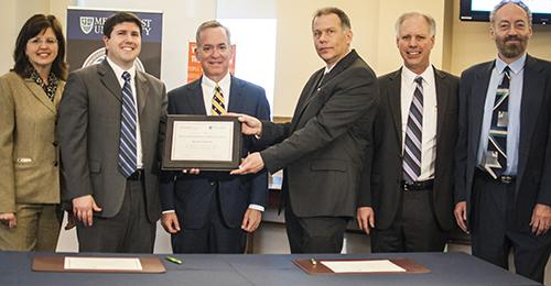 Mercyhurst and Syracuse signed the agreement on the morning of March 15.