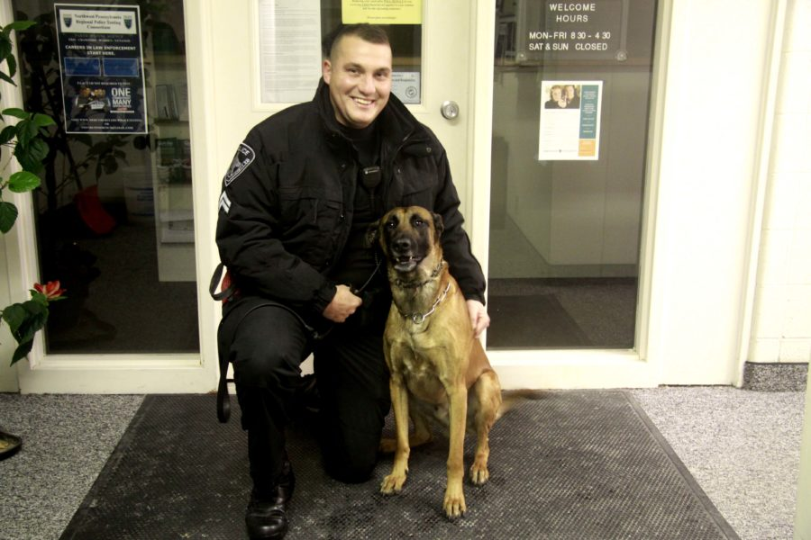 Rico the Mercyhurst police K-9 is fully funded by donations and  fundraisers. This year's 5k run will help support him.