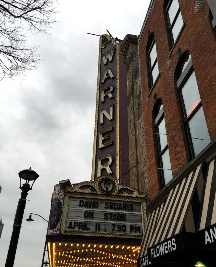 A photo of the Warner Theatre in which the Mercyhurst Concert Choir will join the Erie Philharmonic.