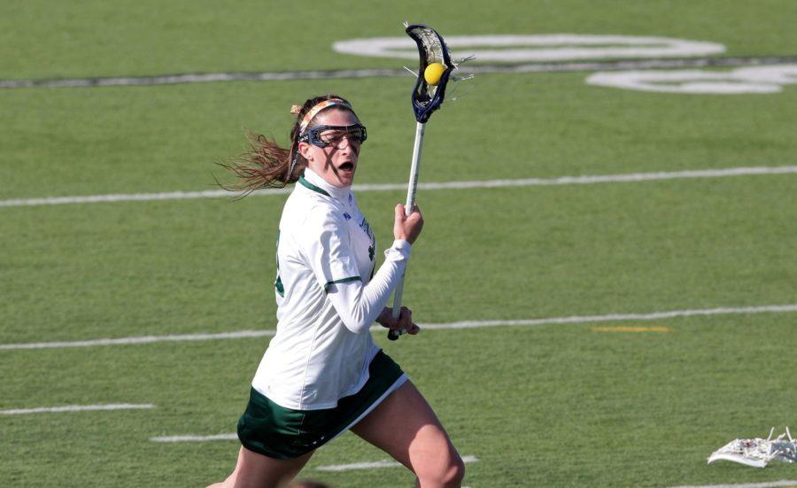 Janelle Williams scored three goals against No. 10 Lock Haven University on Saturday,  April 23.