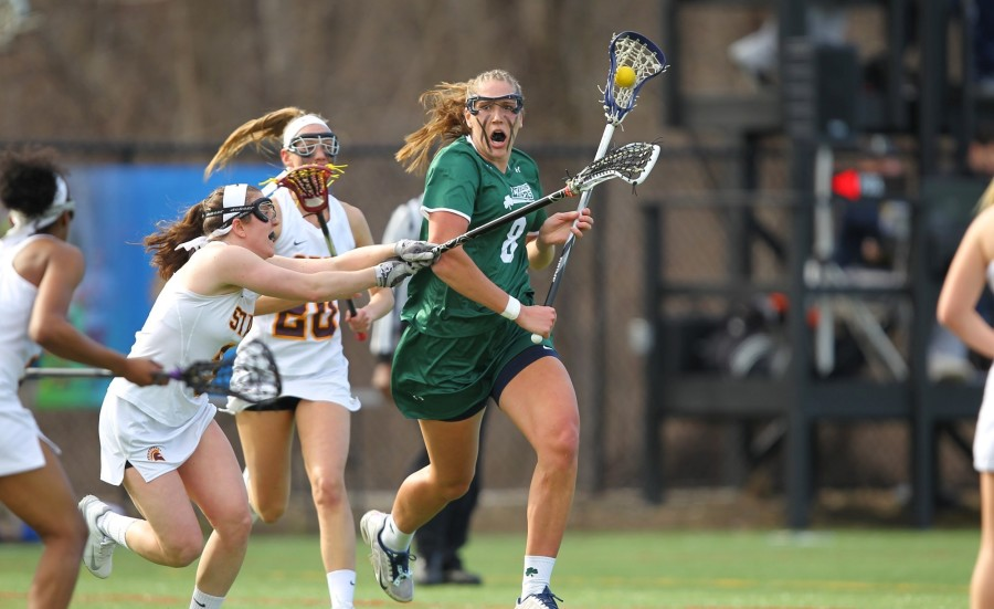 Kristin+Anderson+%288%29+is+tied+for+second+nationally+with+67+draw-controls.+She+scored+five+goals+against+Shippensburg.