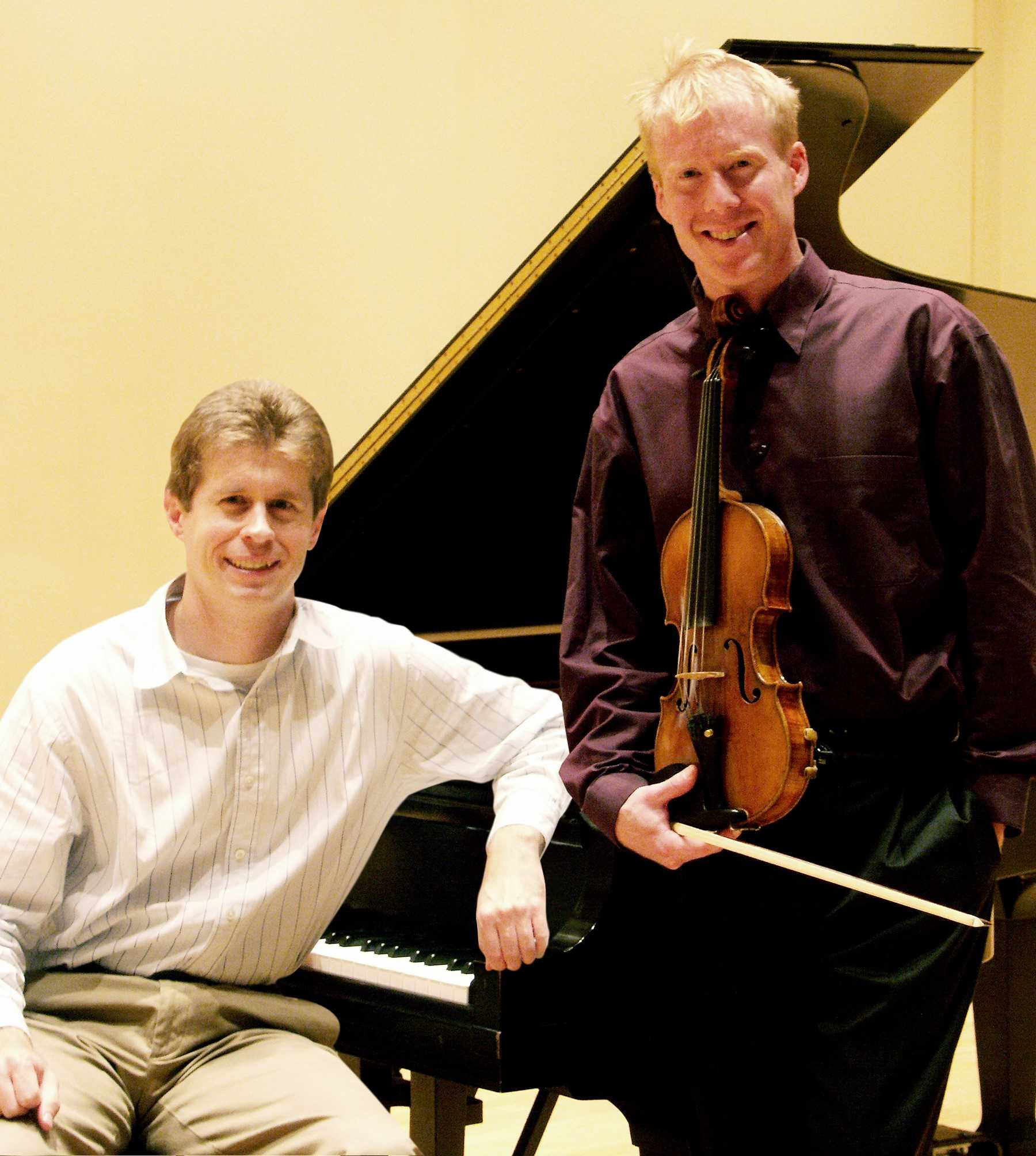 Nathan Hess, D.M.A., left, and Ken Johnston, right, are performing in the Erie Philharmonic's special event on Oct. 10.