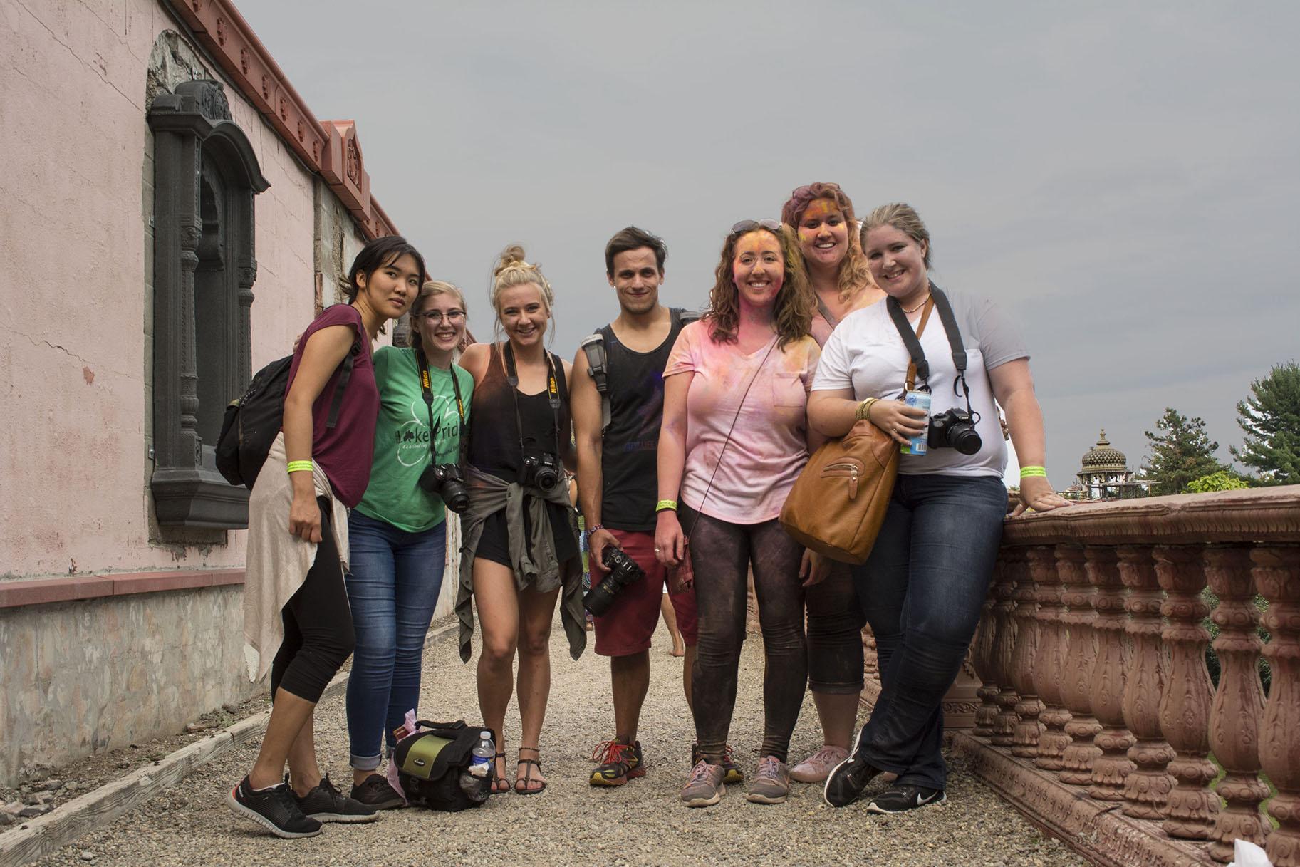 From left to right: Yeshey Tsogyal, Ashley Podrasky, Carley Moynihan, Jeff Annunziata, Naomi Greenstein, Megan Pacileo and Kelsey Mader.