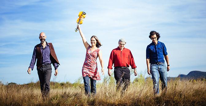 The quartet Rani Arbo & daisy mayhem will perform 'American Spiritual' in Walker Recital Hall.