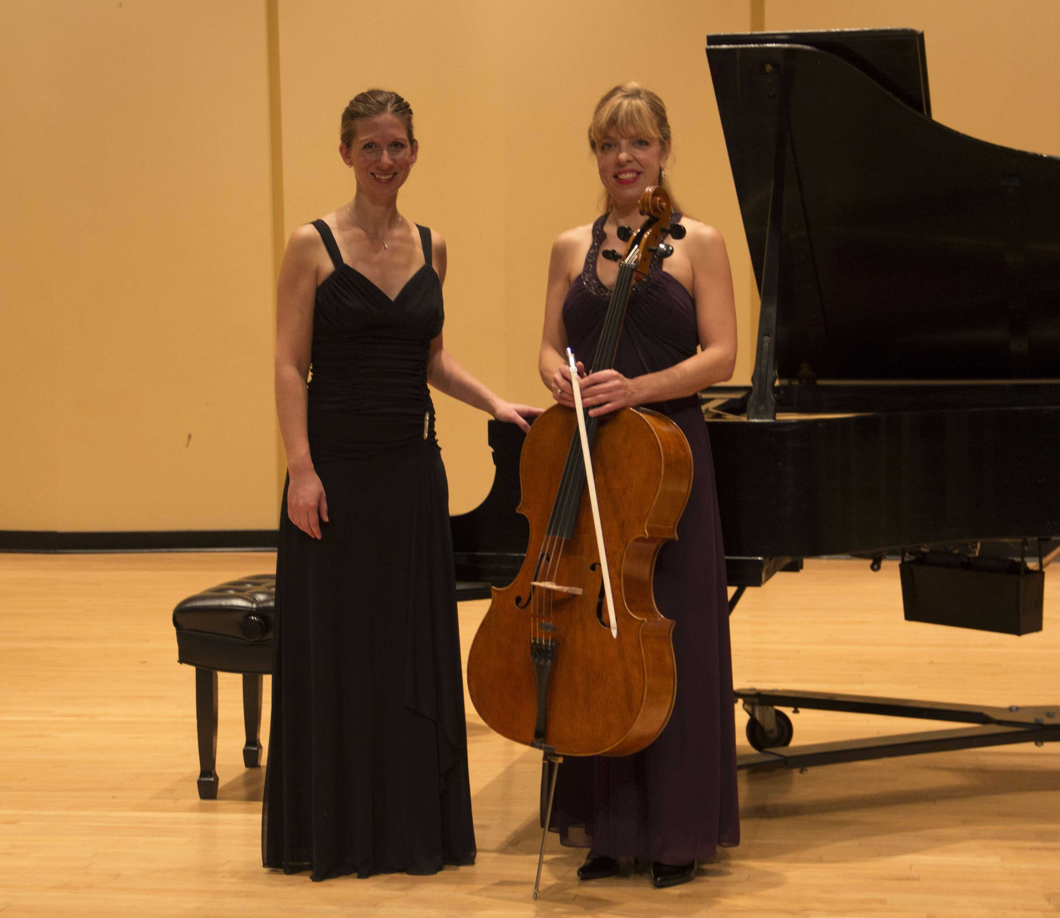 On the left is Sarah Kahl, D.M.A., and on the right is the star of the recital, Robin Hasenpflug.
