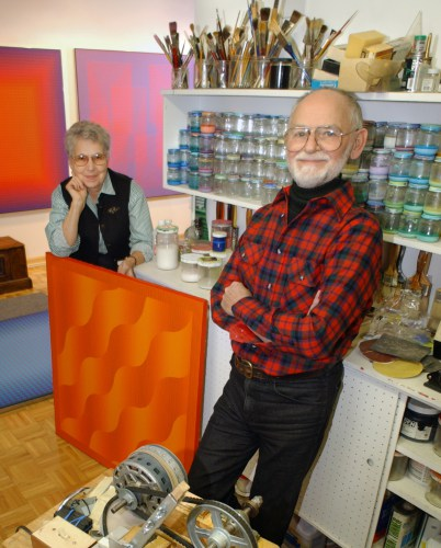Barbara and Julian Stanczk's artwork will be showcased in the Cummings Art Gallery.