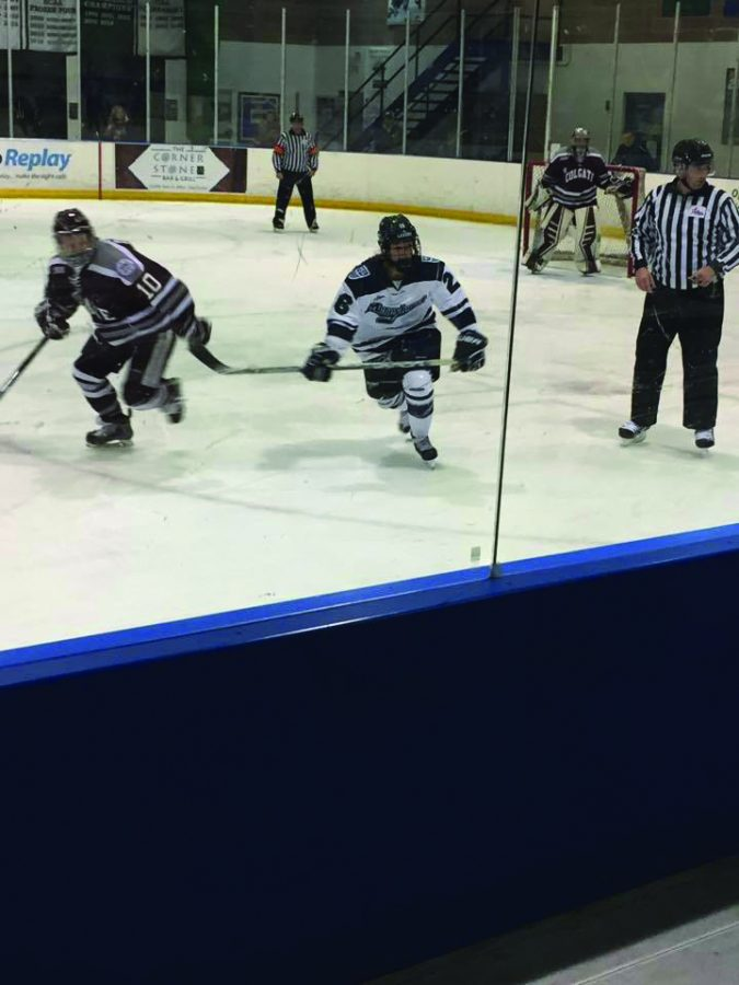 Women's ice hockey fell twice to Colgate University at MIC. For the first time, the Lakers did not obtain at least a tie against a top 10 ranked team.