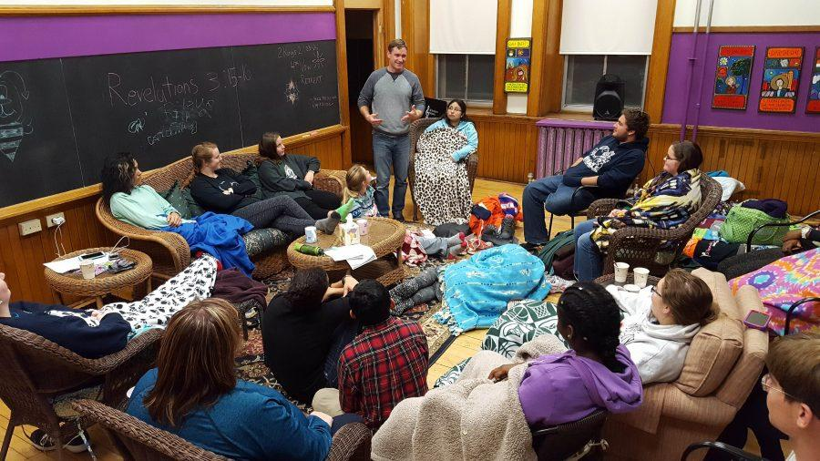At the Fourth Vow retreat, students reflected with Greg Baker on the events that had transpired earlier that day in the city.