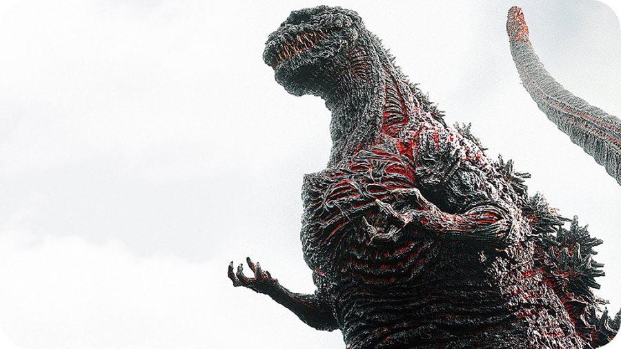 "Shin Godzilla starring as himself in the film ""Godzilla."""