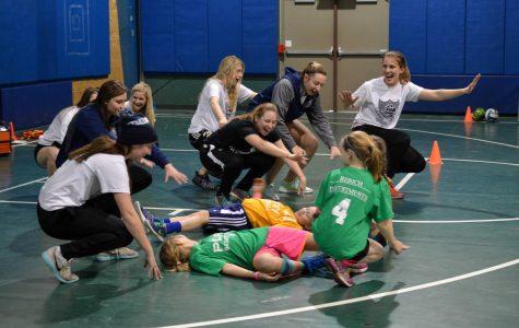 Female athletes celebrated
