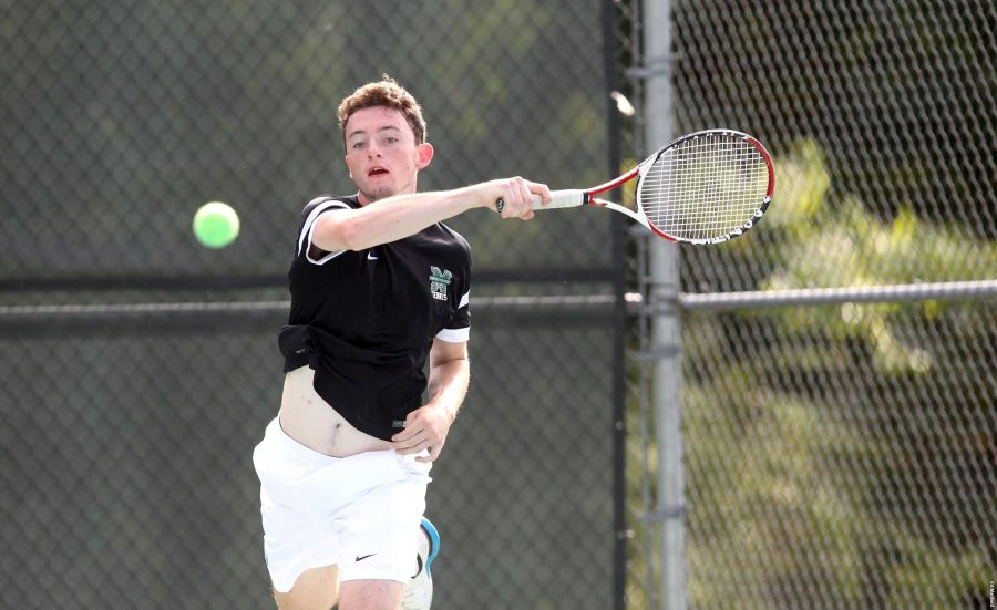Freshman Cormac McCooey came off victorious No. 2 singles and at No. 2 doubles alongside his brother Conor McCooey.