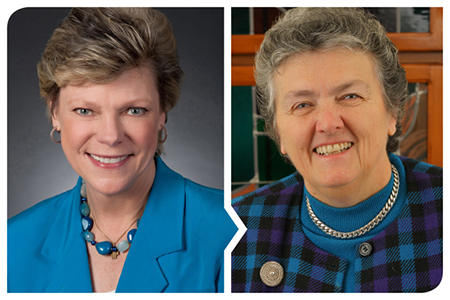Cokie Roberts (left) and Joan Chittister will speak on April 25.