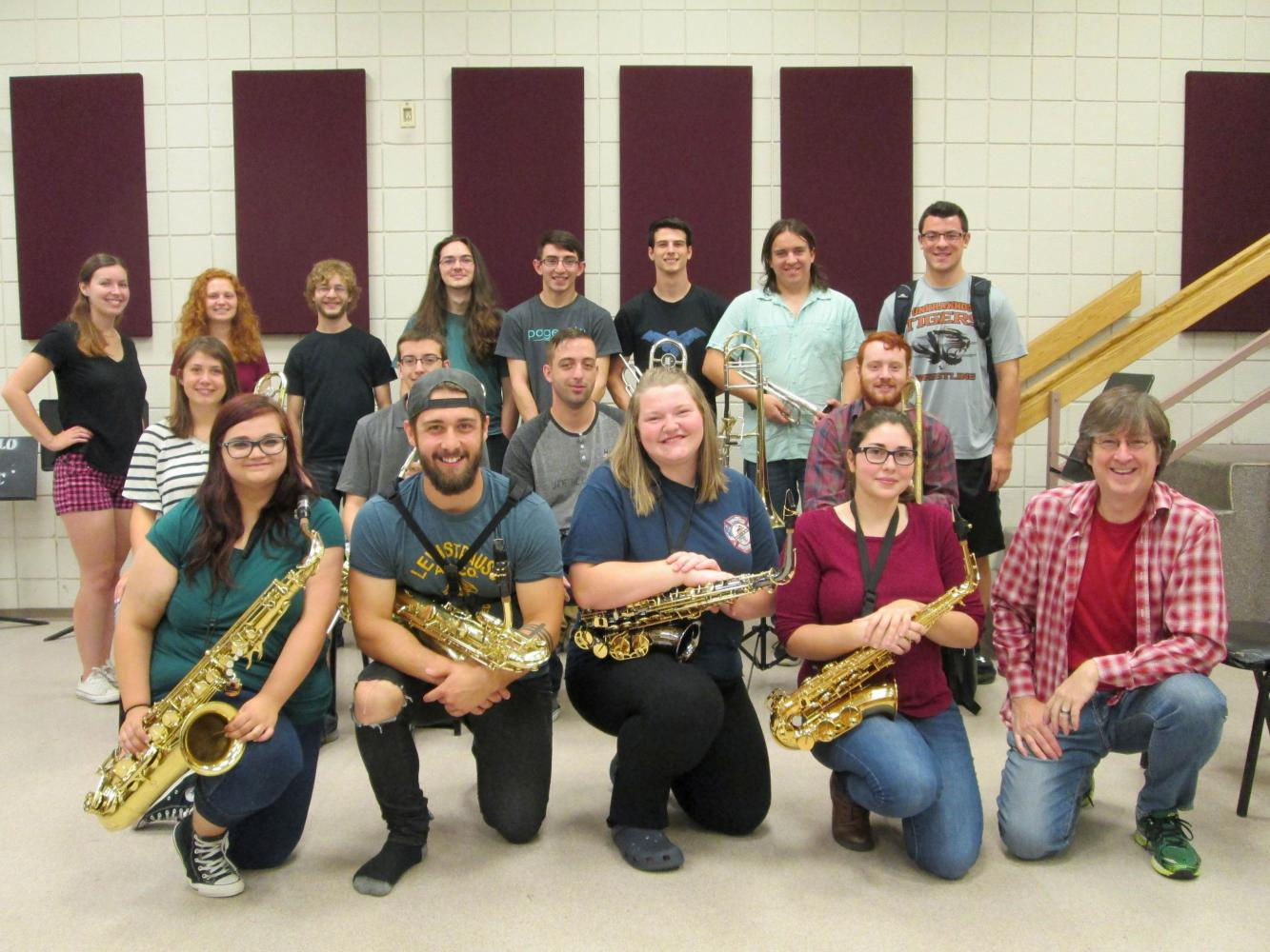 The Mercyhurst Jazz Ensemble consists of music and non-music majors and is led by Scott Meier, Ph.D.