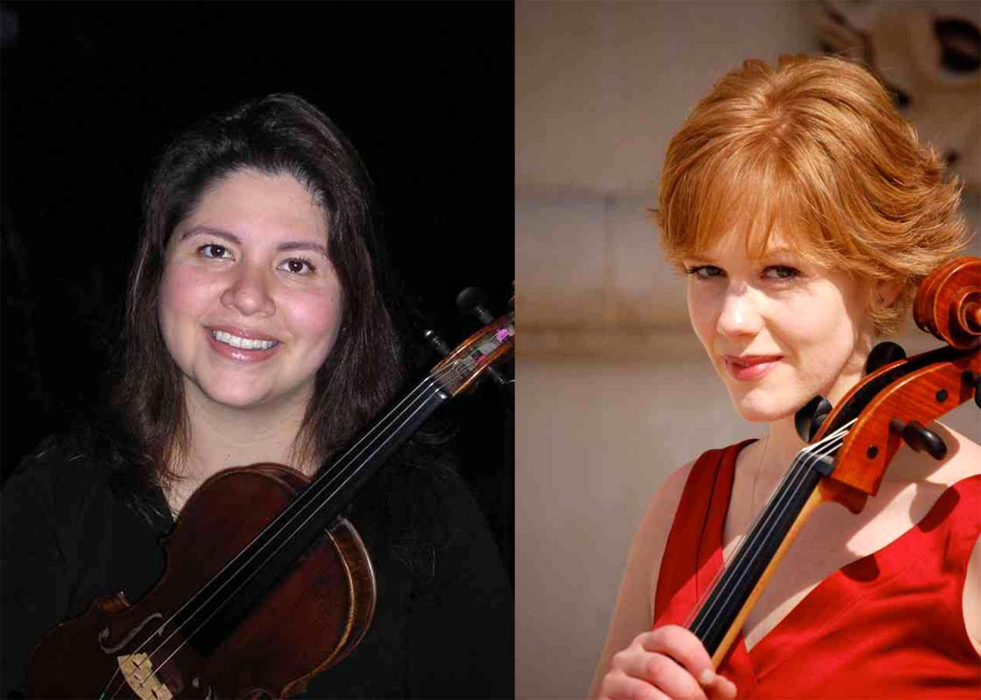 Mary Moser, left and Lisa Brown are the two instructors for the Suzuki school, which was recently added to Mercyhurst's D'Angelo Department of Music.