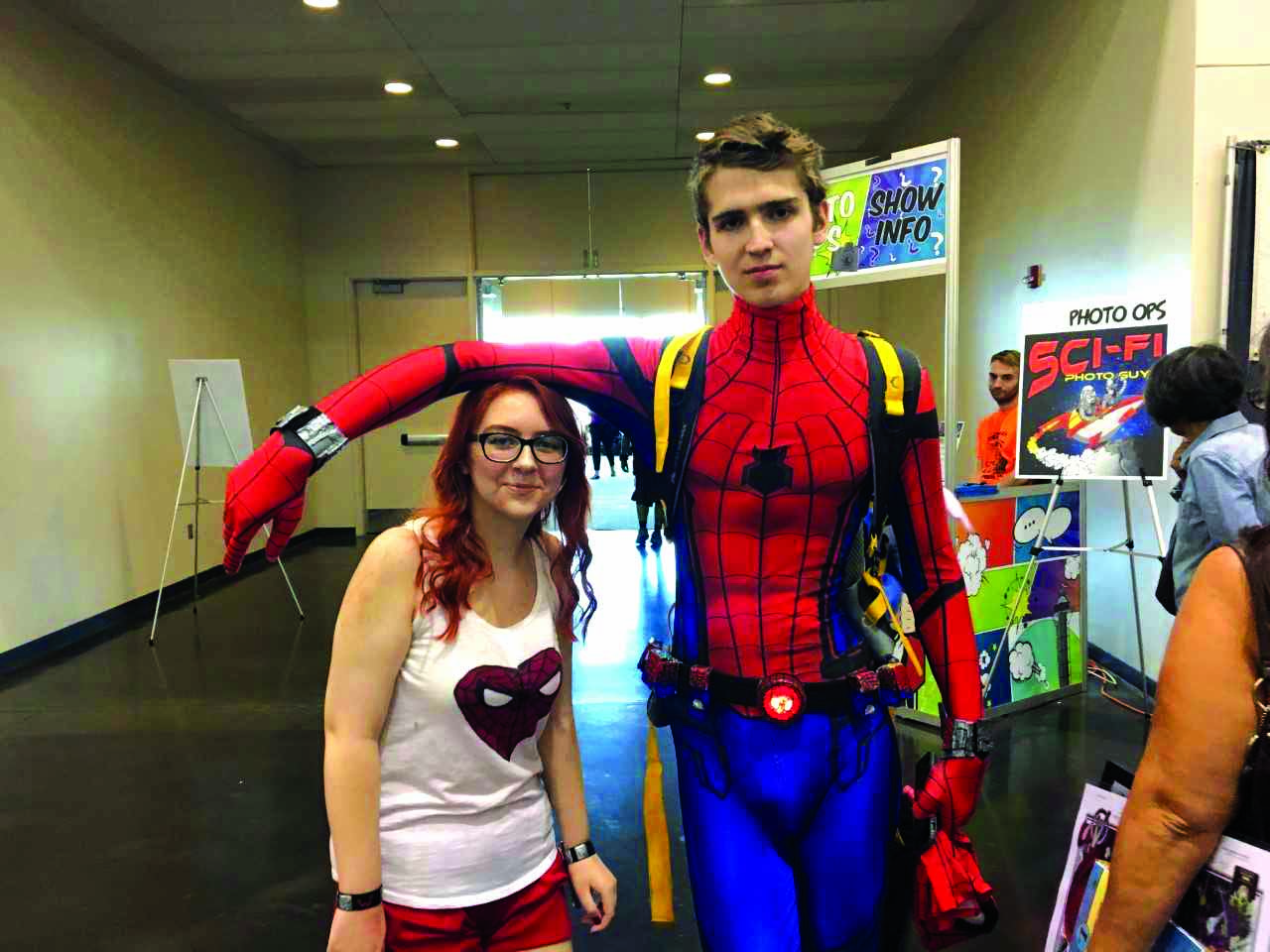 Brooke Bathchelder and Shane Denial attended ComiCon Erie and represented their love of superheroes, especially Spiderman.
