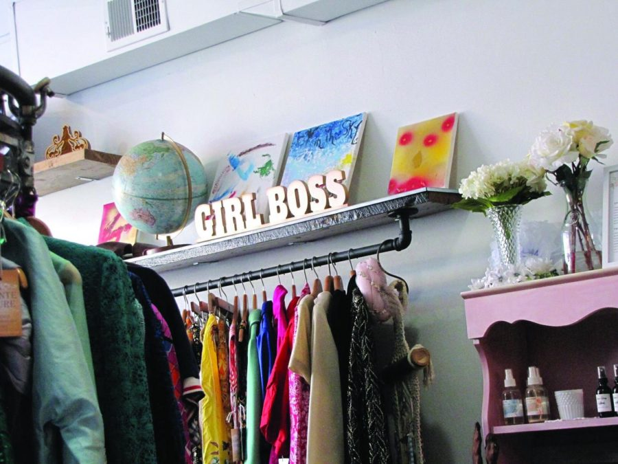 Students from the Fashion Merchandising department have the opportunity, through the Visual Merchandising class, to design a retail space for local business owner Emily George. Students will apply skills they learned in the classroom at George's store, Pointe Foure Vintage Boutique on Peach Street.