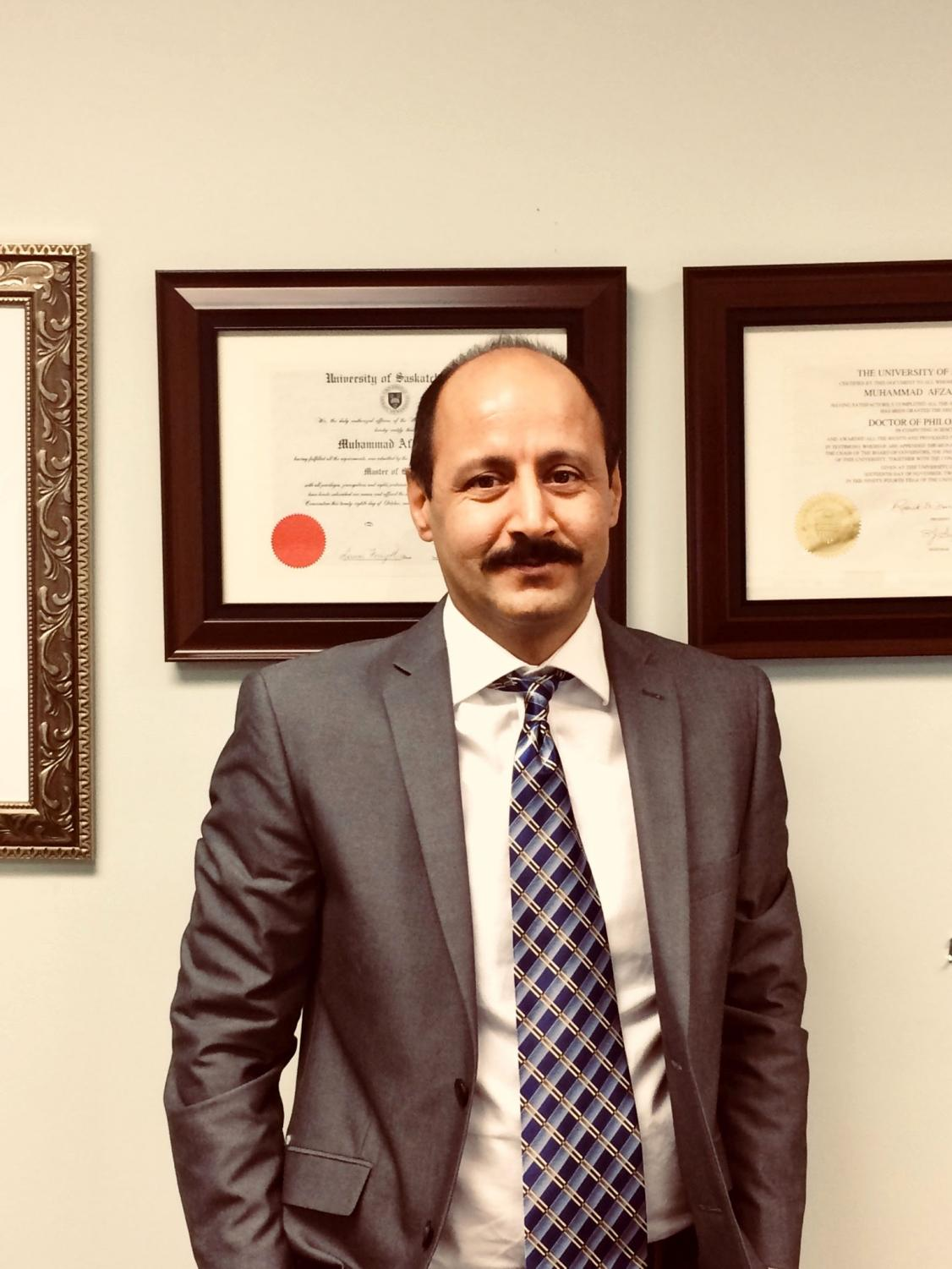 Afzal Upal, Ph.D., who is a native of Pakistan, is the new Data Science program director.