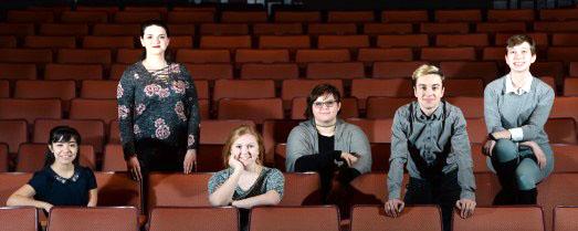 Pictured from left to right: junior Rosie Pregler, senior Sarah Krempasky, junior Abigail Larimore, senior Ashley Poletto, junior Owen Hitt and senior Kathryn Schmitt.
