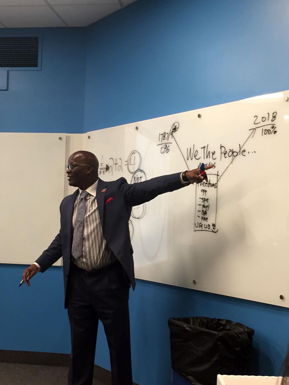 """Eddie Moore Jr., Ph.D., spoke on """"Diversity, Power, Privilege and Leadership"""" as part of Unity Week at Mercyhurst."""