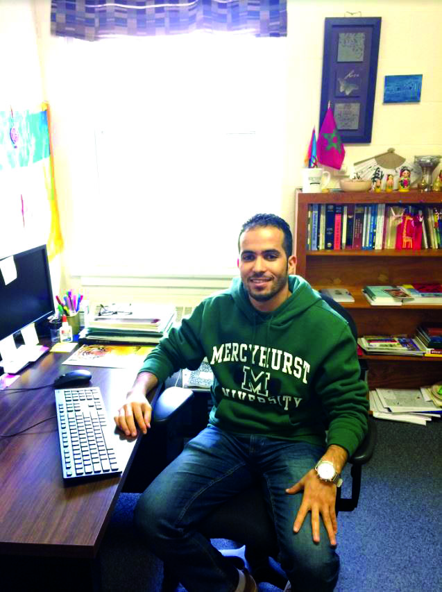 Hicham Jarkach, a Fulbright Scholar, shares his Moroccan culture with Mercyhurst.