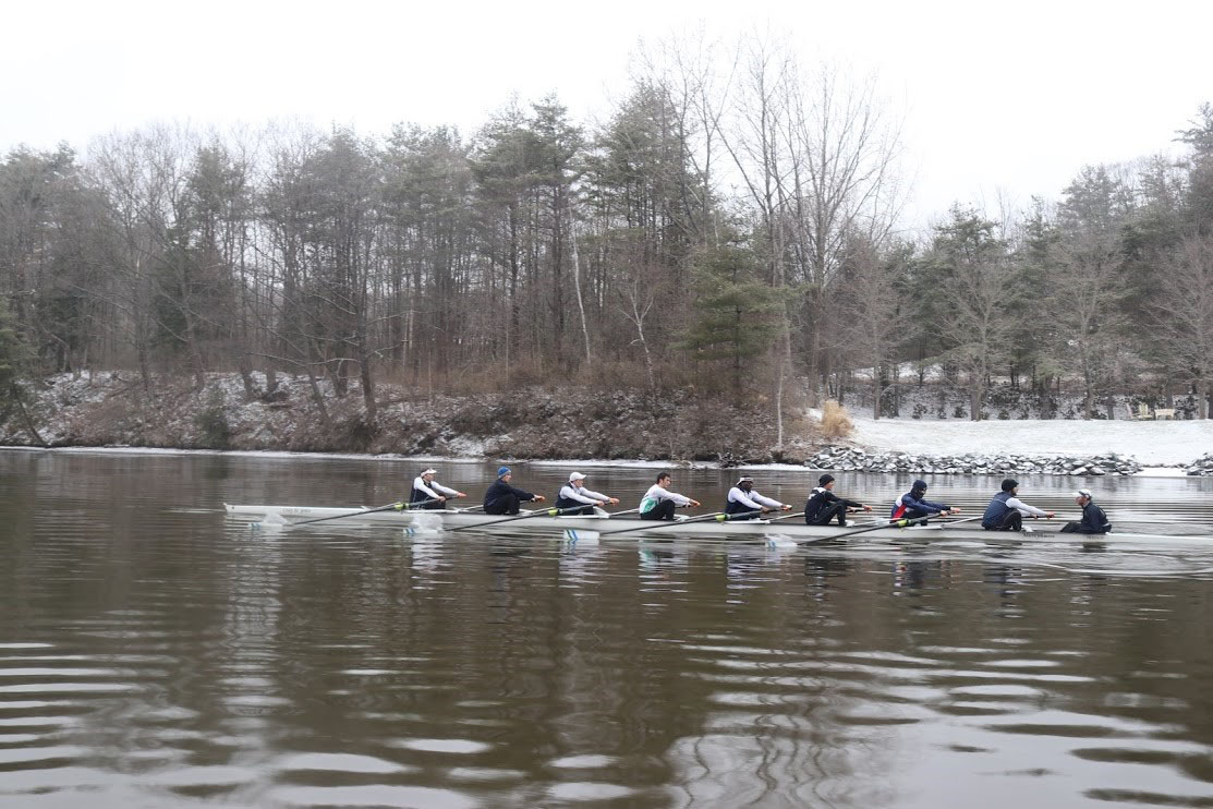 Laker rowers, pictured, made waves, beating Dartmouth College in a Hanover, New Hampshire, dual meet.