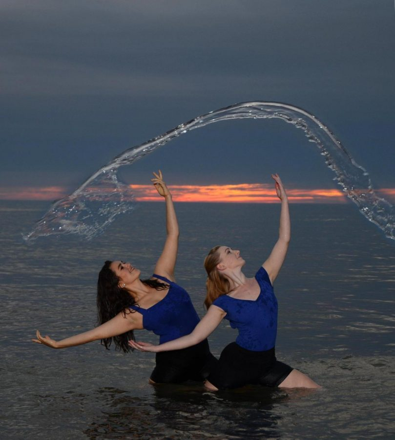 Junior Niusha Karkehabadi and senior Sara Clarke will perform in the National Water Dance event.