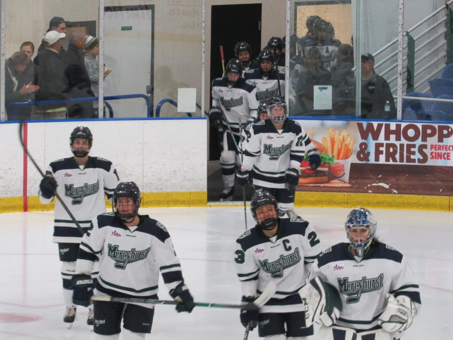 The Mercyhurst women beat Robert Morris University 4-2 in their first ice hockey game on Oct. 19.  However, Robert Morris would go on to win the Oct. 20 game 5-1.