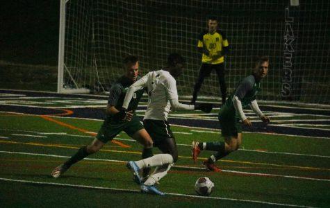 Men's soccer senior night win