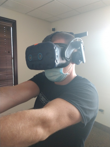 Policing cadet tests out new virtual reality training technology. This technology will teach students how to deescalate real scenarios.