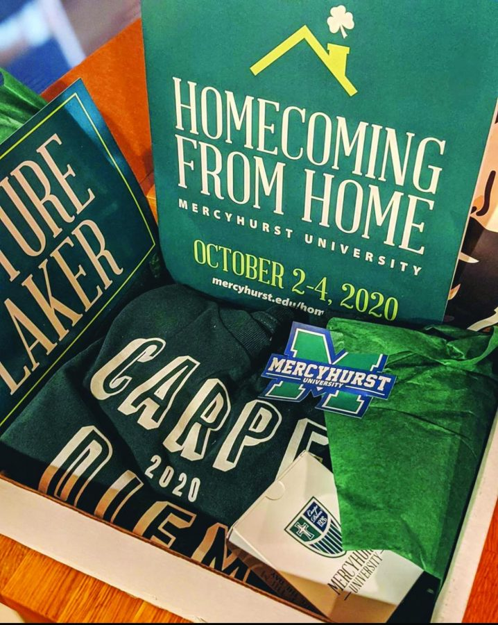 Lakers were sent Celebration Kits featuring a 2020 Carpe Diem t-shirt, a program, playing cards and other Mercyhurst-themed items.