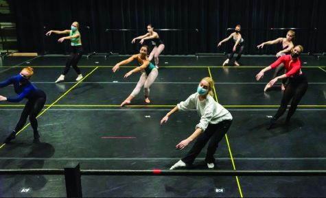 "Senior dance majors prepare capstone ""Raw Edges"" projects for the stage"