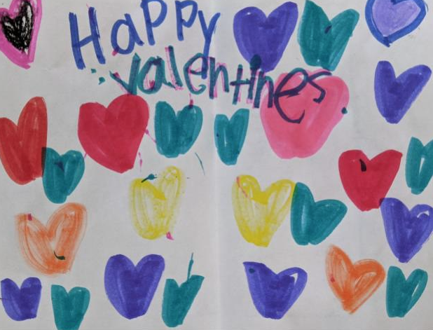 Art education student-teacher shares student's Valentine's Day cards