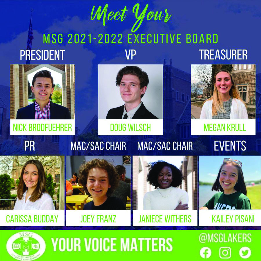 Congratulations to the 2021- 2022 MSG Executive Board