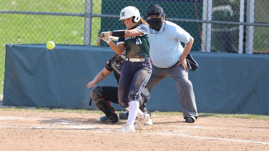 Softball splits double header with win and loss