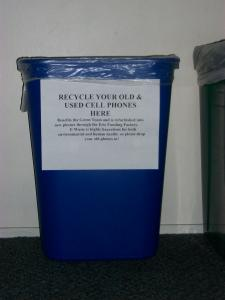 Dispose of your e-waste in these bins located in the academic buildings around campus.