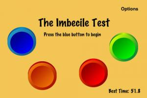 "Imbecile Test measures your mental skills and ranks you an ""imbecile"" or a ""genius."""