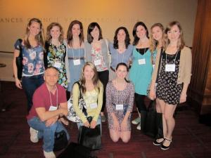 Contributed photo: A group of students traveled with assistant professor Mark Santillano traveled to Elon, N.C.